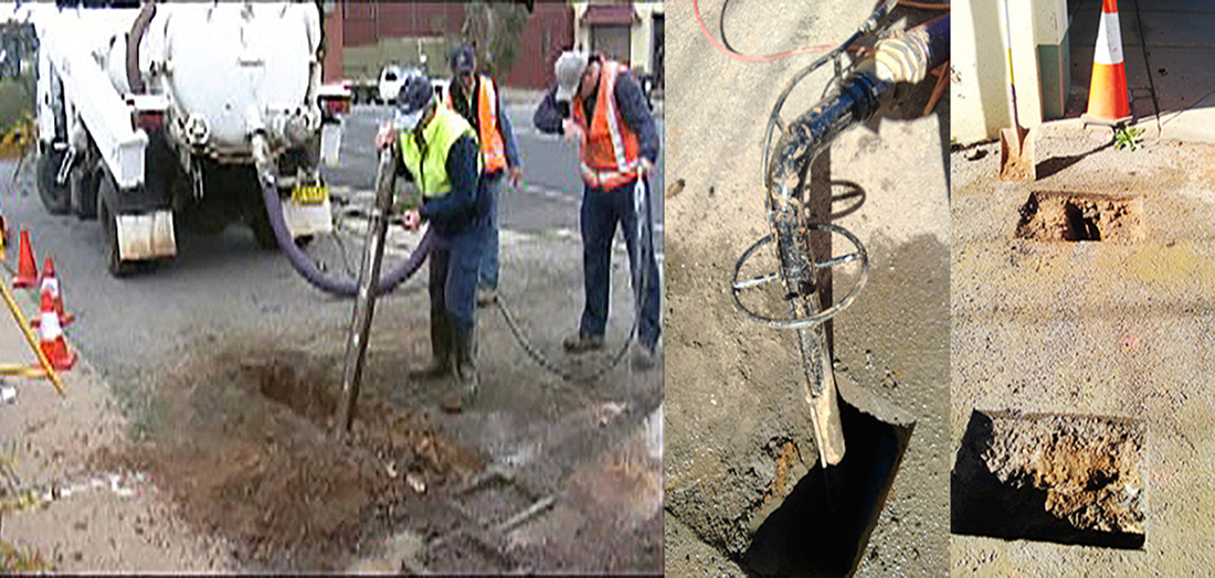 Potholing to Expose a Gas Main